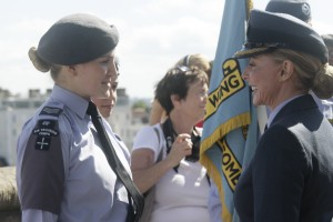 Amassador talks to receiving cadets